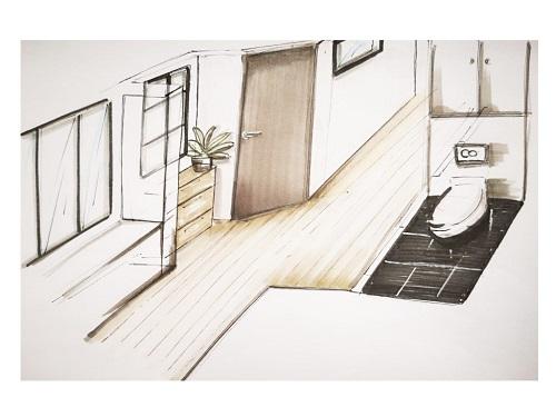Travaux-renovation-entrée-appartement-bordeaux