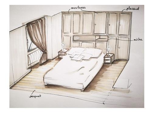 croquis-chambre-renovation-bordeaux