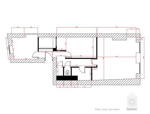 plan-etat-existant-appartement-bordeaux